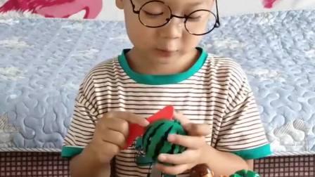 趣味童年:我给大家切西瓜吃吧
