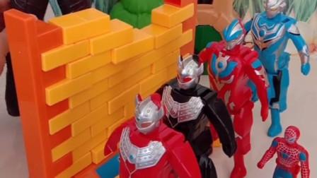幻世拆墙打扰了奥特曼睡觉,这可闯祸啦,奥特曼很生气呢