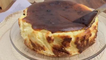 虽然丑但是好吃呀!#巴斯克芝士蛋糕99