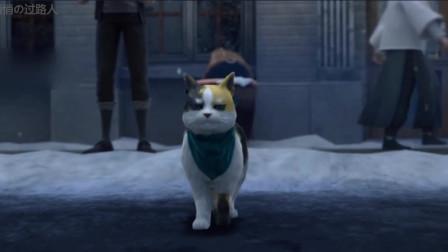 梦塔:这只猫过马路配上这个BGM简直了!