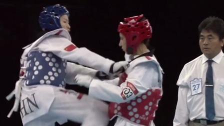 吴静钰近距离高位横踢爆头|伦敦奥运会精彩瞬间