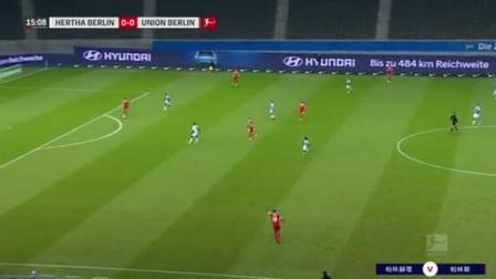 第15分钟柏林赫塔球员贡多齐射门 - 被扑
