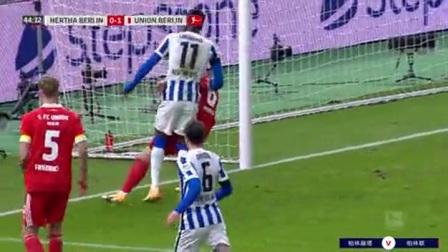 第45分钟柏林赫塔球员达里达射门 - 被扑