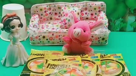 有趣益智宝宝早教:小猪吃披萨软糖