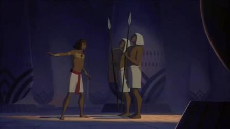 埃及王子:摩西王子搭救弱女子,弱女子险些被发现,摩西及时赶到
