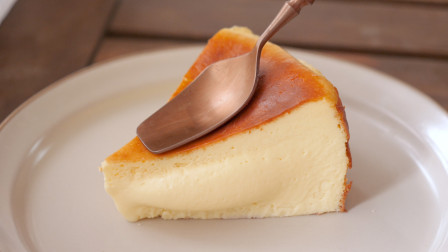 教你巴斯克芝士蛋糕的做法,入口即化,做法简单一次成功