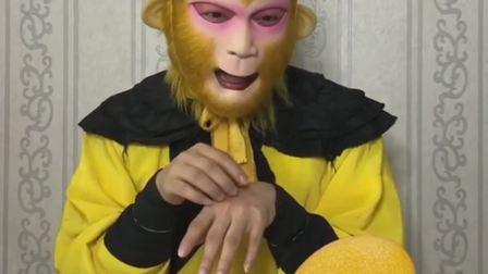 猴哥吃芒果冰棍,凉凉爽爽真得劲儿