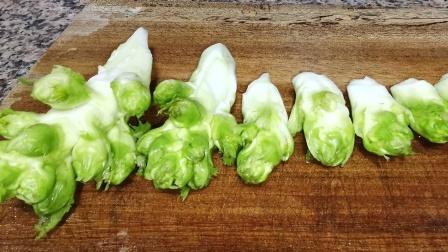 儿菜最简单的家常做法分享,凉拌儿菜片,四川独有的味道