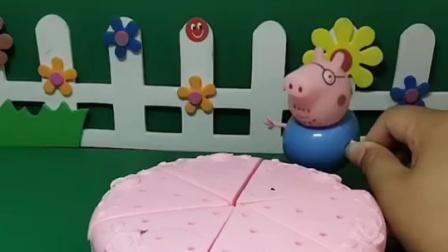 今天是猪妈妈的生日,猪爸爸要亲手做个蛋糕,猪爸爸做的好看吗