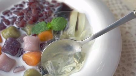 芋圆烧仙草遇上茶冻精致的下午茶