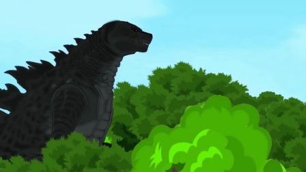 恐龙世界:哥斯拉喷出火苗,要秒敌人