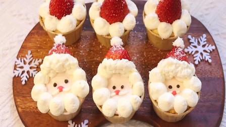 烘焙精选:圣诞的气息越来越浓了,可可爱爱爱的圣诞纸杯蛋糕,制作装饰过程!