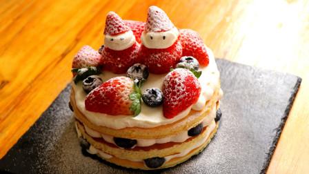 不用烤箱也可以做圣诞节小蛋糕,方法简单,好看又好吃