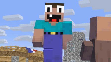 我的世界动画-菜鸟变成了巨人-JAD