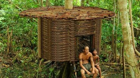 原始生活技巧,亚马逊原住民丛林建造庇护所