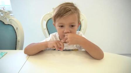 用西瓜猕猴桃芒果为小正太制作美味的冰淇淋冰棒,学习颜色