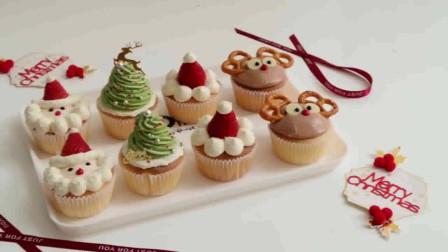 圣诞节快到了,做个不容易回缩的圣诞杯子蛋糕,在加上可爱的裱花,好看又好吃