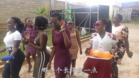 老外在中国:非洲美女过生日,第一次吃到我们中国的生日蛋糕,看她们玩的很嗨