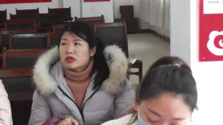 南坞镇一中八年级召开期中考试总结座谈会(9)