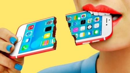 """手机竟然可以吃?妹子自制的""""创意美食"""""""