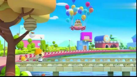 亲子互动游戏:蜜蜜准备了带气球的蛋糕给弟弟!一起来吧!