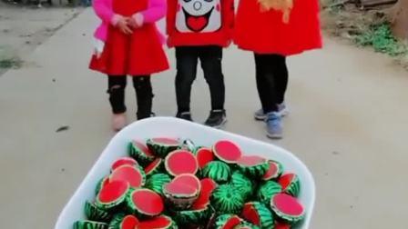 童年趣事:西瓜巧克力,好吃有给力,领