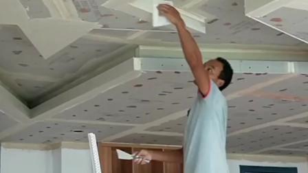 石膏板吊顶,造型刮腻子,边缘