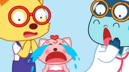 猫小帅:猫小美的打针过程,哭得好大声啊