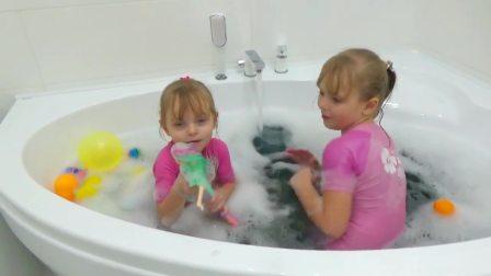 儿童亲子互动,玛格丽塔和蕾拉,真有趣啊