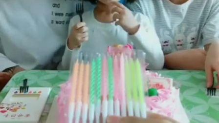 童年趣事:朵朵生日要吃蛋糕咯