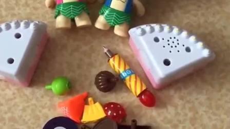 儿童手工动画:水果蛋糕做起来