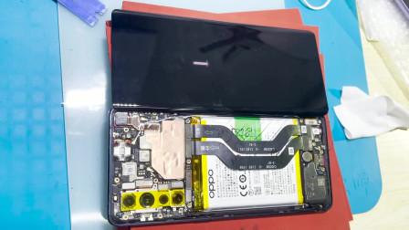曲面屏5G手机OPPO Reno3 PRO外屏碎裂,爆屏修复比直面屏还麻烦
