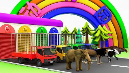 小兔彩虹屋:给卡车里的动物寻找喜欢的食物