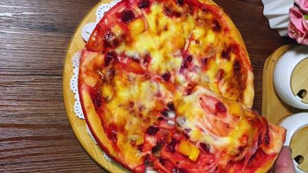 教你在家自制水果味披萨,简单易学,好吃无添加,学会不用买了