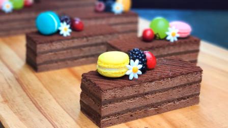 甜品店贵贵的巧克力蛋糕,用最简单的材料在家也能DIY!好吃好玩