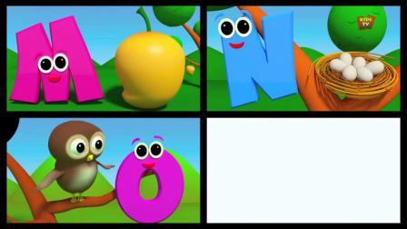 26个英文字母歌,带字母,拼音,读音易学易懂亲子动画