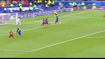 经典回顾:2016年欧洲杯决赛法国对阵葡萄牙,格列兹曼的头球要是进了可能就是另一个结果了(第二集)