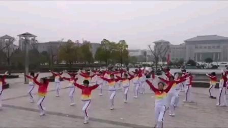 安徽省池州市东至县尧舜健身操队2021年迎新春庆元旦活动
