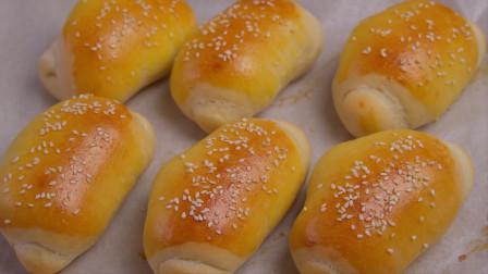 1碗面粉,1袋牛奶,教你做免揉葡萄干软面包,做法简单,超级好吃