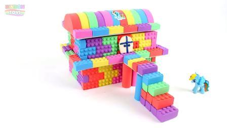 幼儿手工益智玩具:DIY太空沙彩虹屋,童谣儿歌