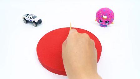 儿童益智:太空沙制作小黄人的彩色水果蛋糕