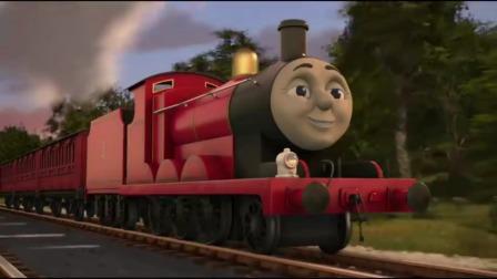 托马斯:托马斯身上油漆是蓝色的,詹姆士是红色,大家颜色都不同
