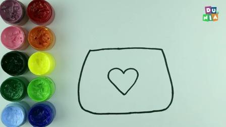 儿童益智简笔画,画一个非常漂亮的手袋包包,女孩子们肯定都喜欢