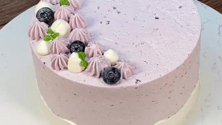 蓝莓乳酪蛋糕~ 酸酸甜甜,冰冰凉凉