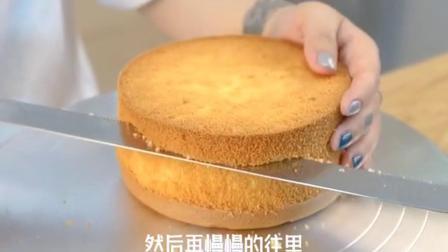 蛋糕切片时总不均匀,掌握这个小技巧切片更好看