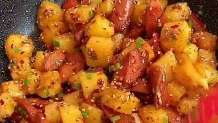 中午了,来一份火腿土豆块吗?