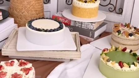 法式千层和韩风切块蛋糕,造型精致