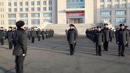 齐齐哈尔市局举行警旗升旗仪式庆祝首个中国人民节