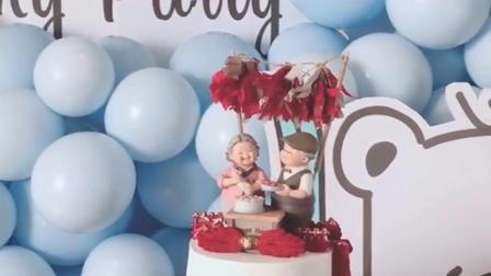 ins简约老年人的蛋糕款式