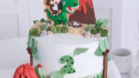 小恐龙蛋糕,男孩的首选